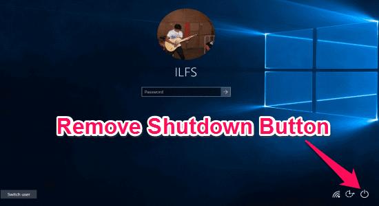 remove shutdown button