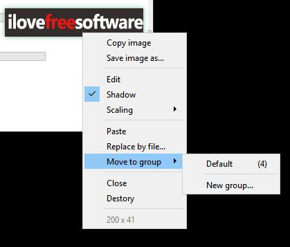right-click options