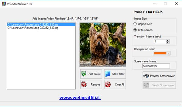 screensaver creator software windows 10 1