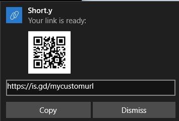 shorty desktop pop up
