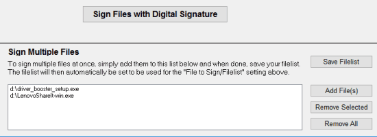 sign multiple files