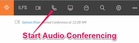 start audio conferencing