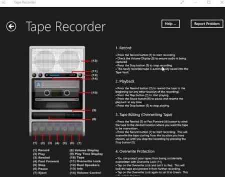 tape recorder guide