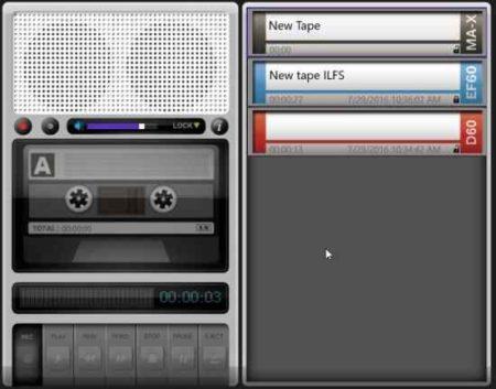 tape recorder recording