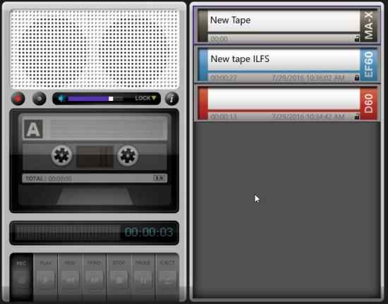 Windows 10 Voice Recorder App With A Vintage Tape Recorder