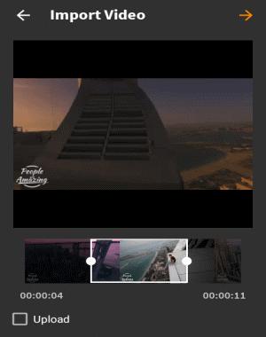 trim video clip