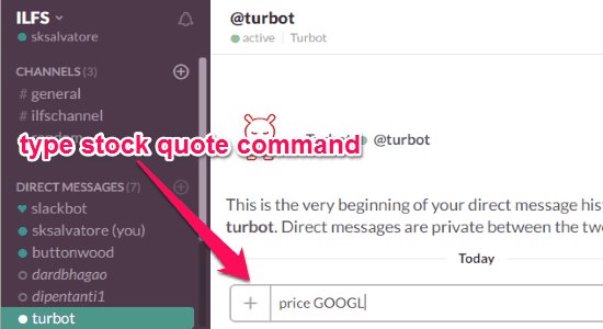 type the command
