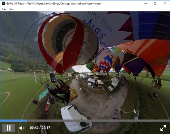 view 360 degree video and interact
