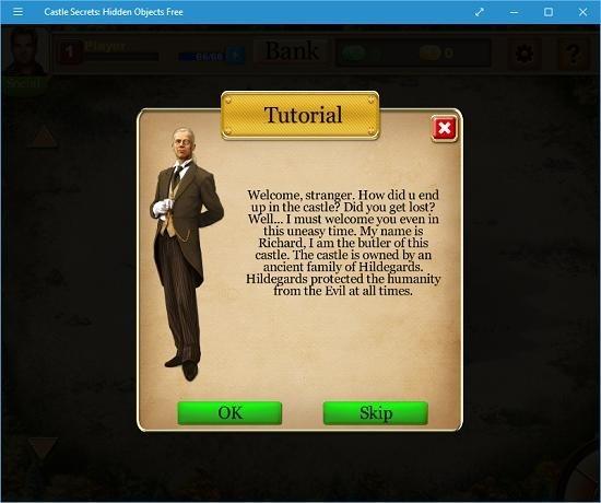 Castle Secrets Hidden Objects Free main screen