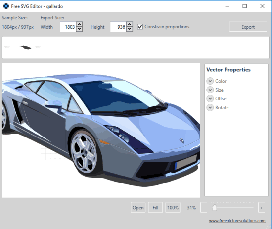 Free SVG Editor- interface