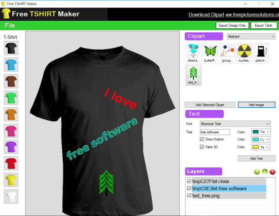 Free TSHIRT Maker software