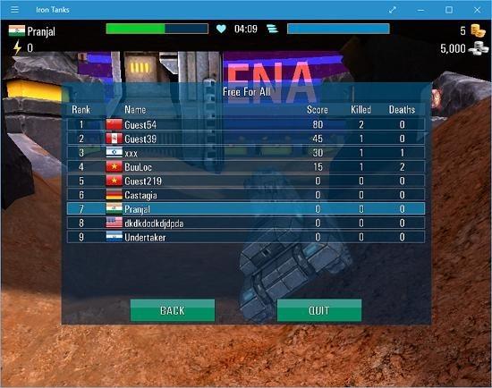 Iron Tanks pause stats