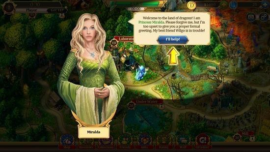 Love and Dragons main screen