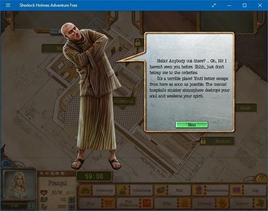 Sherlock Holmes Adventure Free game intro
