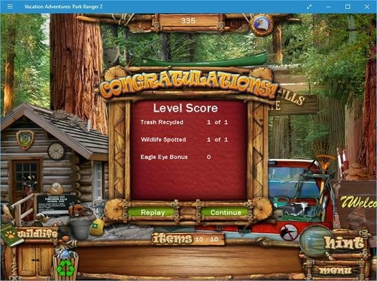 Vacation Adventures Park Ranger 2 level completed