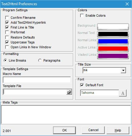 adjust output settings