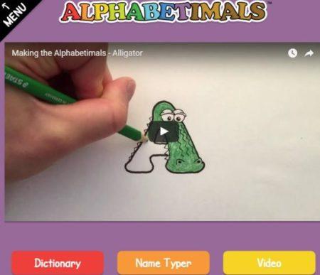 alphabetimals home