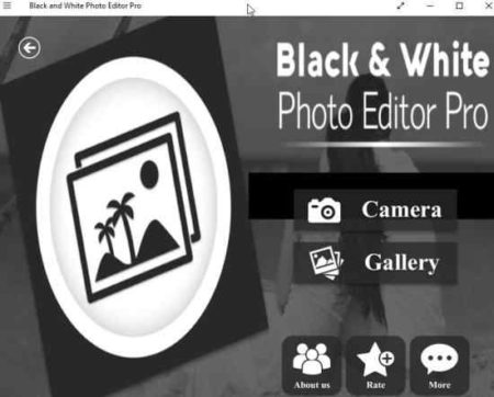 black and white photo editor pro home