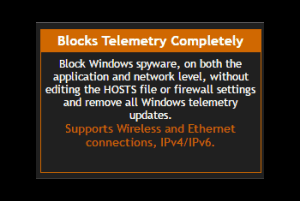 block telemetry and privacy related issues