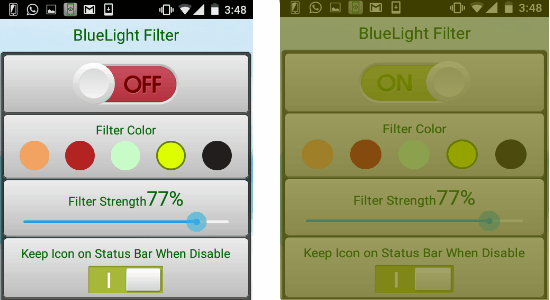 bluelight filter - night mode