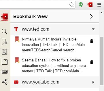 bookmarks tab