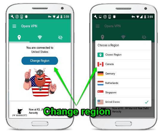 change region