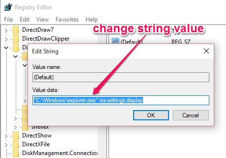 change string value
