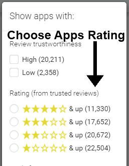 choose app rating