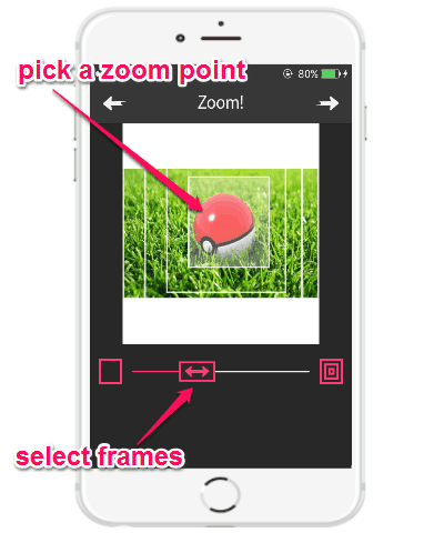 choose zoom point