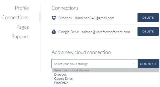 connect cloud services