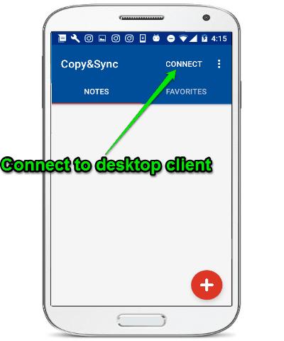 connect to desktop client