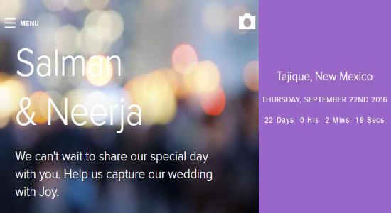 create wedding websites