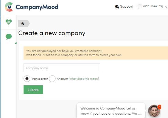 creating company account