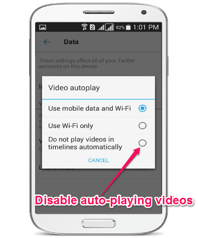 disable autoplaying videos