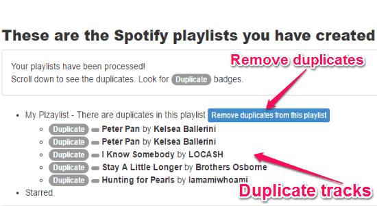 duplicate tracks