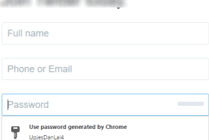 enable and use Chrome built-in password generator