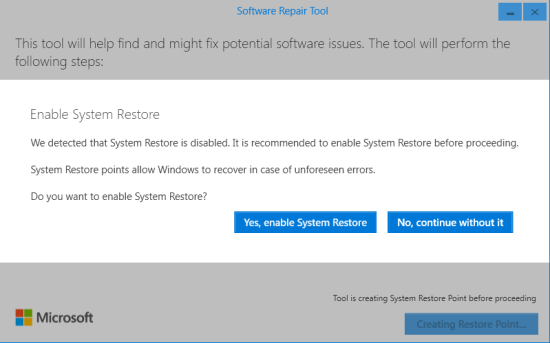 enable system restore or not