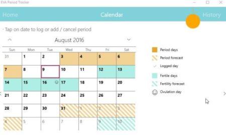 eva period tracker calendar