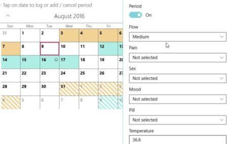 eva period tracker symptoms