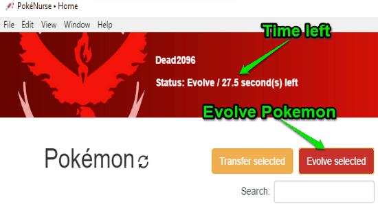 evolve pokemon