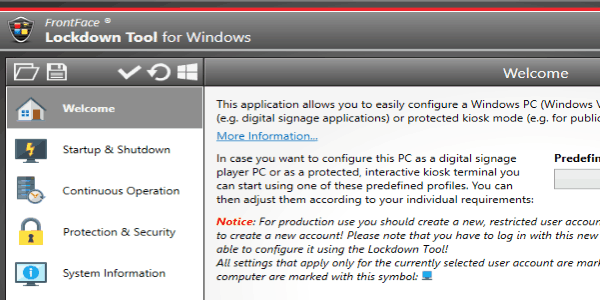 Setup Windows PC as Kiosk By Disabling System Functions