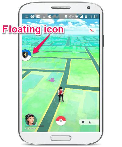floating icon