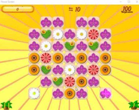 flower garden game board
