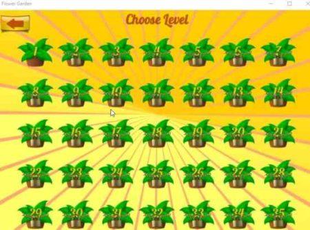 flower garden level selection