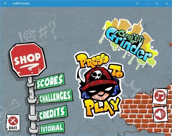 graffiti grinder main screen