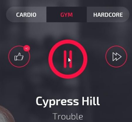gym radio player