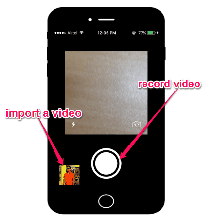 import a video