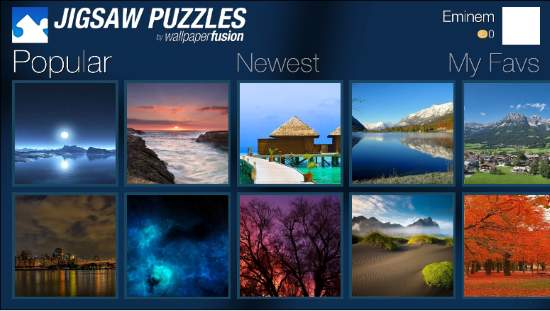 Play free jigsaw puzzles on Wallpaperfusion