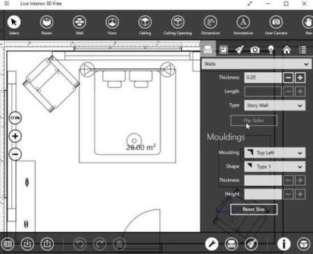 live interior 3d free 2d design