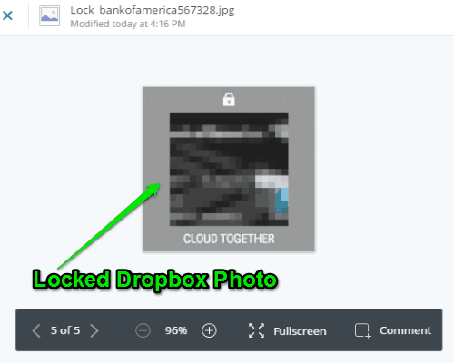 lock dropbox photos